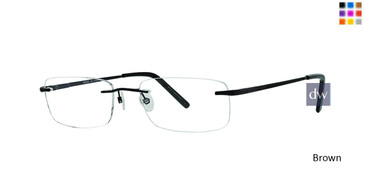 Brown Totally Rimless 255 Reaction Eyeglasses.