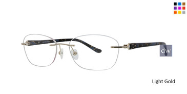 Light Gold Totally Rimless 257 Solitaire Eyeglasses.