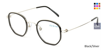 Black/Silver C-Zone M1210 Eyeglasses.
