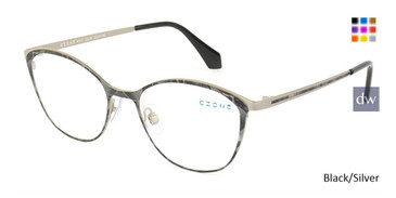 Black/Silver C-Zone M1211 Eyeglasses.