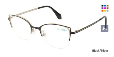 Black/Silver C-Zone M1213 Eyeglasses.