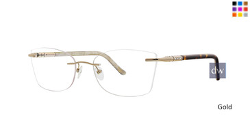 Gold Totally Rimless 259 Lumiere Eyeglasses.