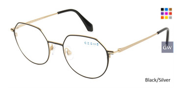 Black/Silver C-Zone M1214 Eyeglasses -Teenger.
