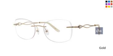 Gold Totally Rimless 260 Amante Eyeglasses.