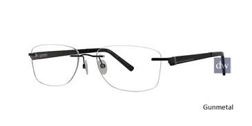 Gunmetal Totally Rimless 262 Rhythm Eyeglasses.