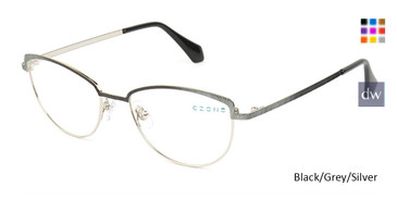 Black/Grey/Silver C-Zone M2248 Eyeglasses - Teenager.
