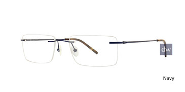 Navy Totally Rimless 267 Connection Eyeglasses.