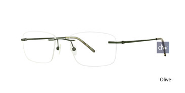 Olive Totally Rimless 268 Connection Eyeglasses.