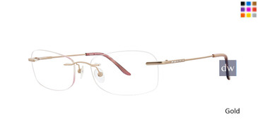 Gold Totally Rimless 272 Serenity Eyeglasses.