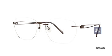 Brown Totally Rimless 273 Ascend Eyeglasses.