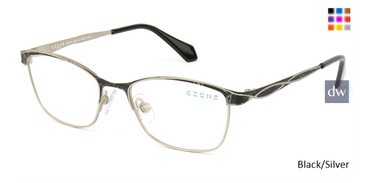 Black/Silver C-Zone M2250 Eyeglasses - Teenager.