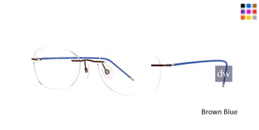 Brown Blue Totally Rimless 274 Velocity Eyeglasses.