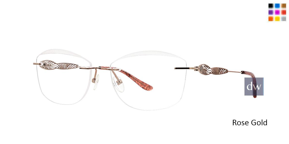 Rose Gold Totally Rimless 277 Arabella Eyeglasses.