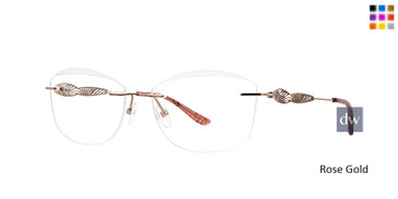 Rose Gold Totally Rimless 277 Arabella Eyeglasses.