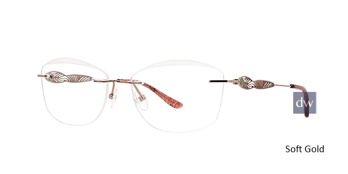 Soft Gold Totally Rimless 277 Arabella Eyeglasses.