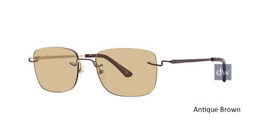 Antique Brown Totally Rimless 279 Discover Eyeglasses.