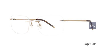 Sage Gold Totally Rimless 280 Explore Eyeglasses.