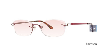 Crimson Totally Rimless 282 Evoke Eyeglasses.
