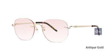 Antique Gold Totally Rimless 283 Evoke Eyeglasses.