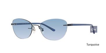 Turquoise Totally Rimless 284 Inspire Eyeglasses.