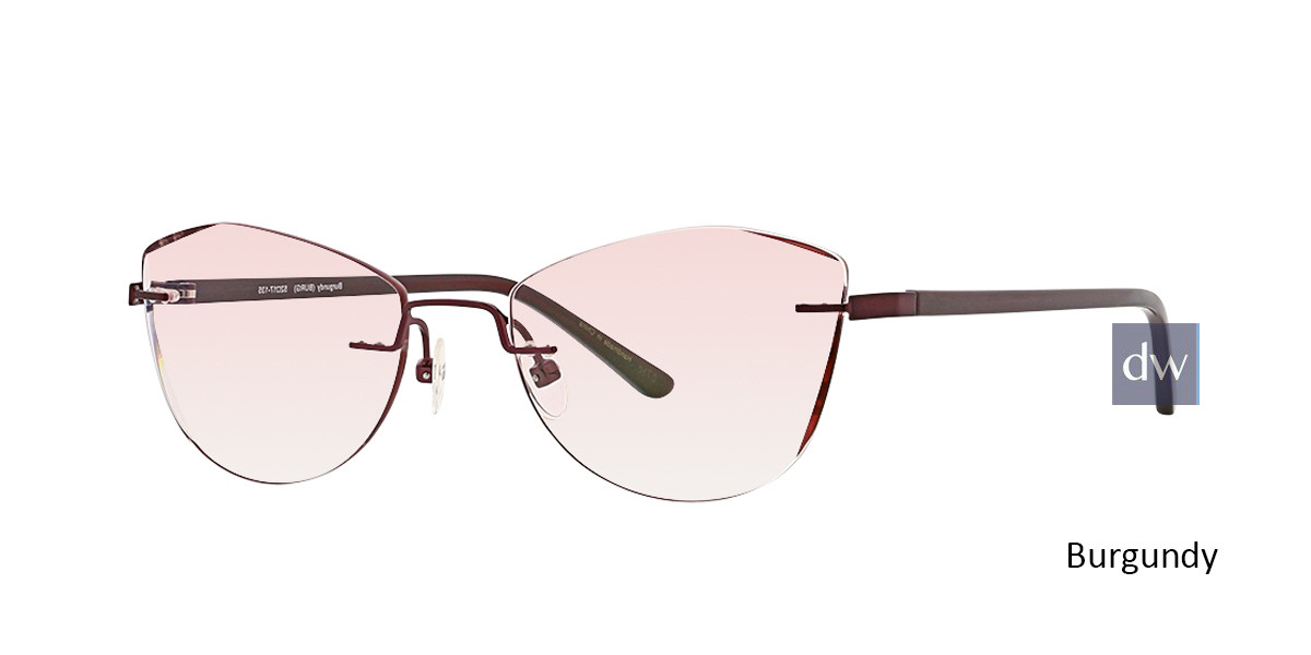 Burgundy Totally Rimless 285 Inspire Eyeglasses.