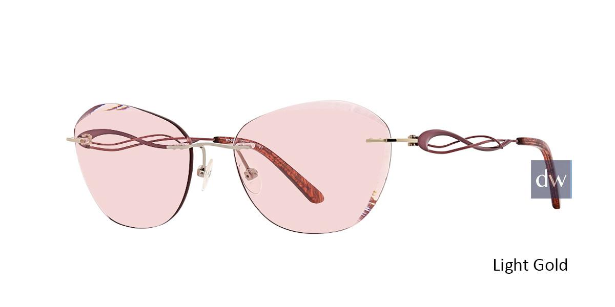 Light Gold Totally Rimless 287 Imagine Eyeglasses.
