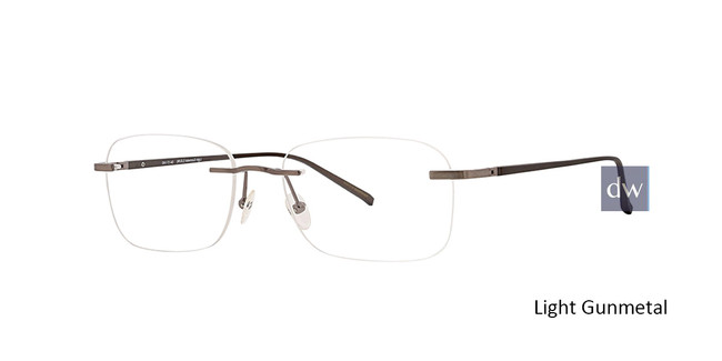 Light Gunmetal Totally Rimless 288 Circuit Eyeglasses.