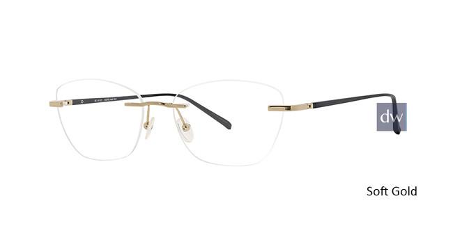Soft Gold Totally Rimless 289 Pioneer Eyeglasses.