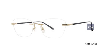 Soft Gold Totally Rimless 289 Pioneer Eyeglasses.
