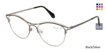 Black/Silver C-Zone M3215 Eyeglasses.