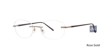 Rose Gold Totally Rimless 290 Envision Eyeglasses.