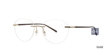 Gold Totally Rimless 291 Innovate Eyeglasses.