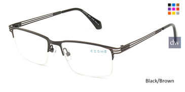 Black/Brown C-Zone M3218 Eyeglasses.