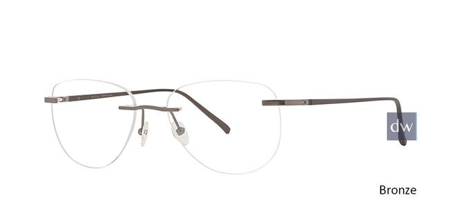 Bronze Totally Rimless 293 Virtual Eyeglasses.