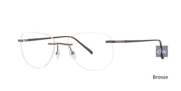 Bronze Totally Rimless 293 Virtual Eyeglasses.