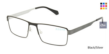 Black/Silver C-Zone M5206 Eyeglasses.