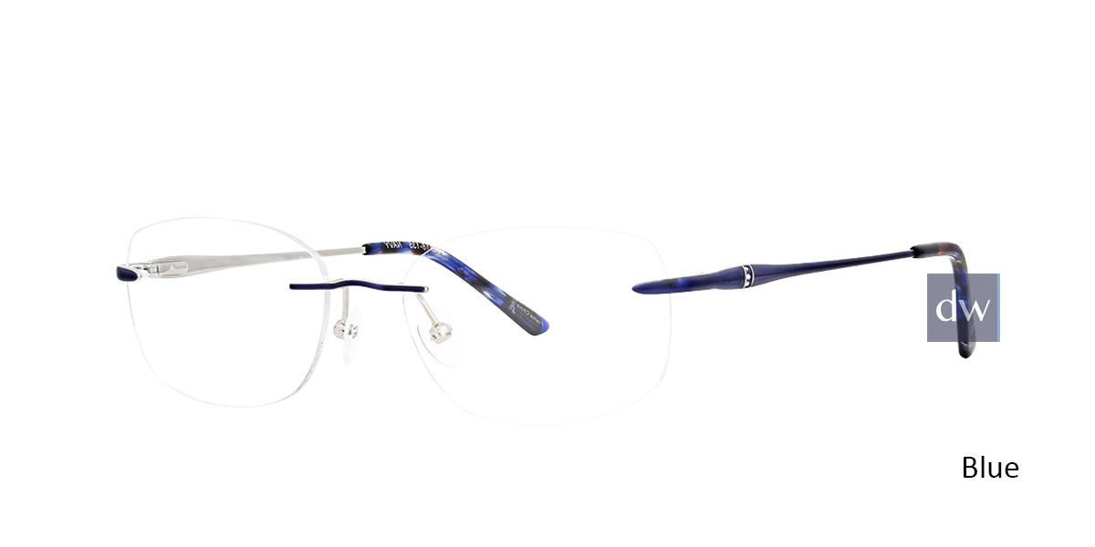 Blue Totally Rimless 294 Patina Eyeglasses.