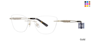 Gold Totally Rimless 295 Signet Eyeglasses.