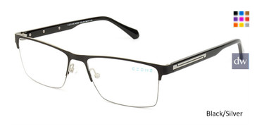 Black/Silver C-Zone M5207 Eyeglasses.