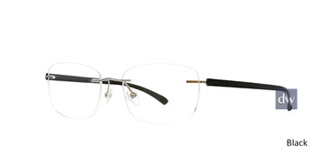 Black Totally Rimless 297 Accelerate Eyeglasses.