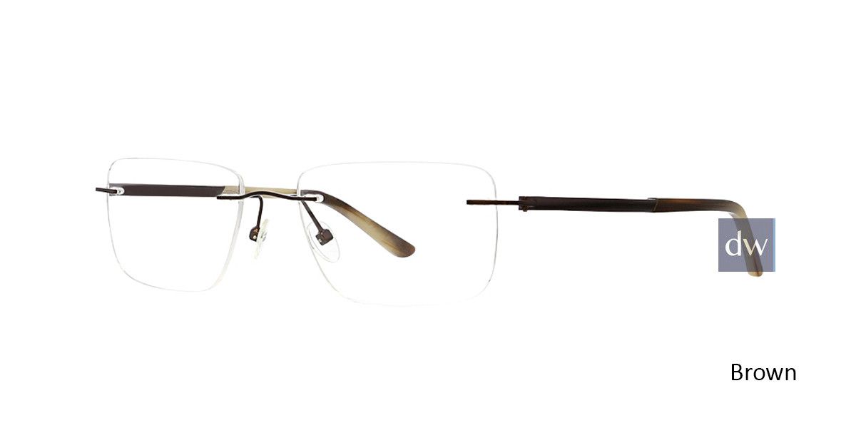 Brown Totally Rimless 298 Command Eyeglasses.