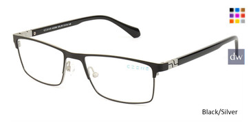 Black/Silver C-Zone M5208 Eyeglasses.