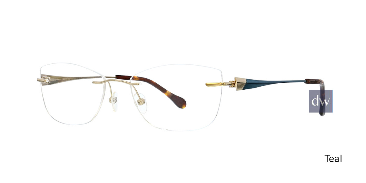 Teal Totally Rimless 299 Circa Eyeglasses .