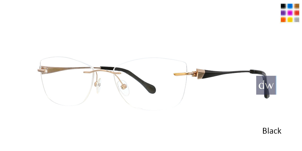 Black Totally Rimless 299 Circa Eyeglasses.