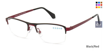 Black/Red C-Zone Q1208 Eyeglasses.