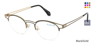 Black/Gold C-Zone Q1209 Eyeglasses - Teenager.