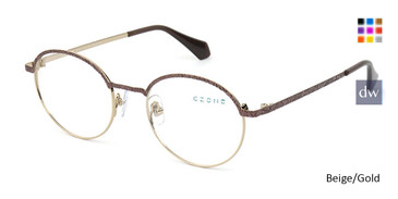 Beige/Gold C-Zone Q2236 Eyeglasses.