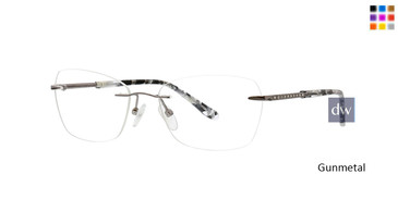 Gunmetal Totally Rimless 300 Halo Eyeglasses.