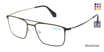 Black/Gold C-Zone Q6136 Eyeglasses.