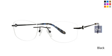 Black Totally Rimless 301 Trinity Eyeglasses.